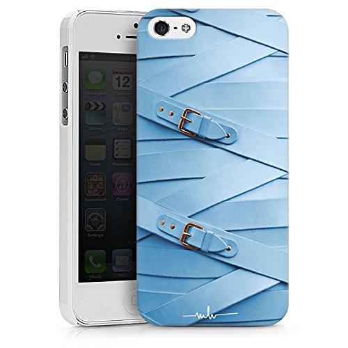 Apple iPhone X Silikon Hülle Case Schutzhülle Mode Leder Schnallen Hard Case weiß