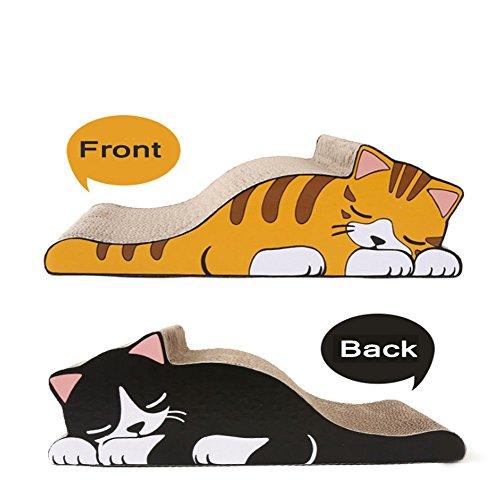 TFN gatti tiragraffi letti in cartone a forma di gatto addormentato