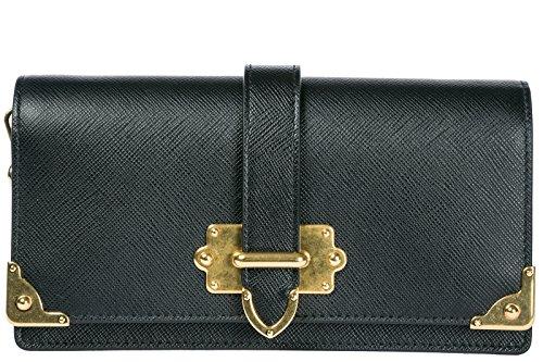 Prada borsa donna a tracolla pelle borsello porta iPhone nero