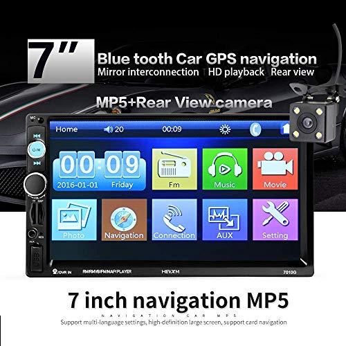 Z-SGYX 7-Zoll Universal-Auto-MP5 HD-Touchscreen, Bluetooth-Freisprech-Video-Unterstützung USB/TF/FM-Auto-Video Mit Fernbedienung