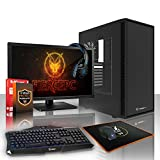 Fierce Storm Gaming PC Bundeln - Schnell 4.1GHz Hex-Core AMD FX-6300, 1TB SSHD, 16GB 1600MHz, NVIDIA GeForce GTX 1070 8GB, Tastatur (VK/QWERTY), Maus, 24-Zoll-Monitor, Headset 371271