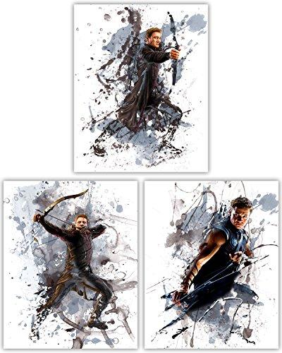 Tangible Prints Hawkeye Wall Decor Kollektion-Jeremy Renner als Das Klassische Avenger in unserem Film Poster Wall Art Serie-Set von 38x 10Fotos (Hawkeye-vol 2)