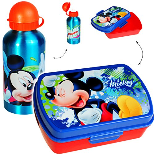 2 tlg. Set _ Lunchbox / Brotdose + Trinkflasche -