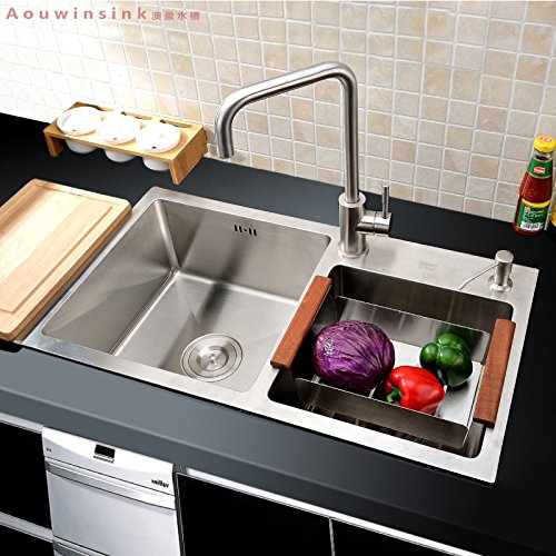 SBWYLT-Lavello in acciaio inox mano imposta ciotola doppia cucina