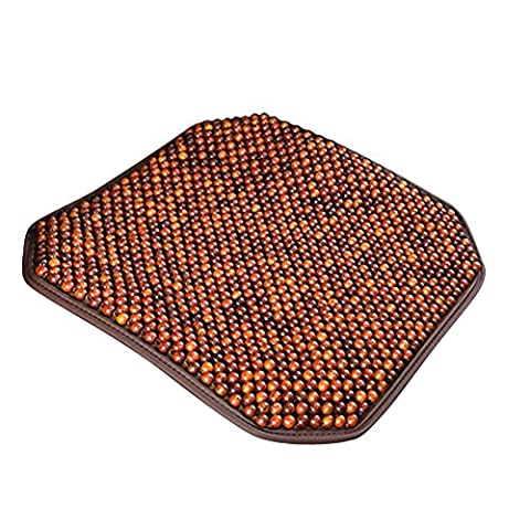Geek-House Upscale Natural Wooden Beads Massage Health-Preserving Breathable Cold Mat Versatile for Car & Office & Home