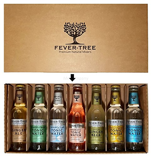 fever tree mediterranean tonic Fever-Tree Original Tonic Water Probierset - Elderflower-,Naturally Light-, Aromatic-, Mediterranean-, Premium Tonic Water + Ginger Ale + Ginger Beer - je 200ml