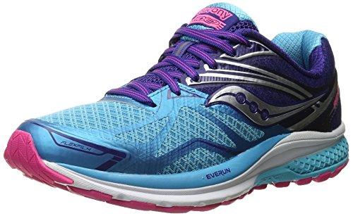 SauconyRIDE 9 - Scarpe Running Donna, Blu (Blau (Blau/Blau/Pink)), 38.5 EU