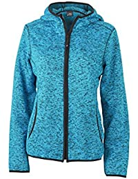 James & Nicholson Damen Sweatshirt Fleece Ladies'Knitted Fleece Hoody