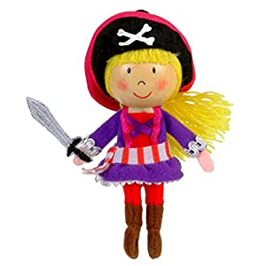 Fiesta Crafts- Marioneta de Dedo niña Pirata, (1)