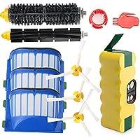 efluky 3.5Ah batería de repuesto para irobot roomba + Kit cepillos repuestos de Accesorios para iRobot Roomba Serie 600 610 620 625 630 631 632 639 650 651 660 670 680 681-un conjunto de 11