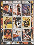 Turkmenistan 2000 History of the Cinema - James Bond perf sheetlet containing 9 values unmounted...
