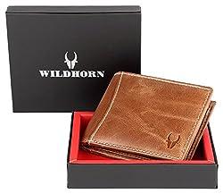 WildHorn Genuine Tan Crunch Mens Leather Wallet