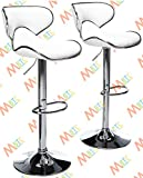 #8: MBTC Horse Bar Stool Chair in White ( Set of 2 )