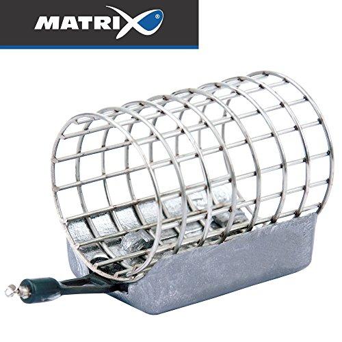 Fox Matrix Stainless Steel Cage Feeder - Feederkorb zum Feederangeln, Futterkorb zum Feederfischen, Friedfischangeln, Feedern, Größe/Gewicht:XL 45x35mm / 40g