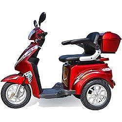 Dreirad Scooter, Seniorenmobil, Elektrofahrzeug ,Elektro Scooter ECO ENGEL 500 (rot)