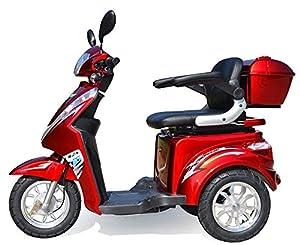 1000 W eScooter Elektromobil 3 Rad eScooter Seniorenfahrzeug Seniorenmobil Elektrostuhl ECO Engel 501 (Rot)