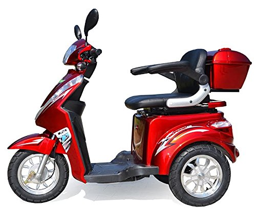 elektroroller senioren Dreirad Scooter, Seniorenmobil, Elektrofahrzeug ,Elektro Scooter ECO ENGEL 500 (rot)