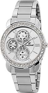 Dezine Chrono Pattern Analogue Silver Dial Girl's Watch