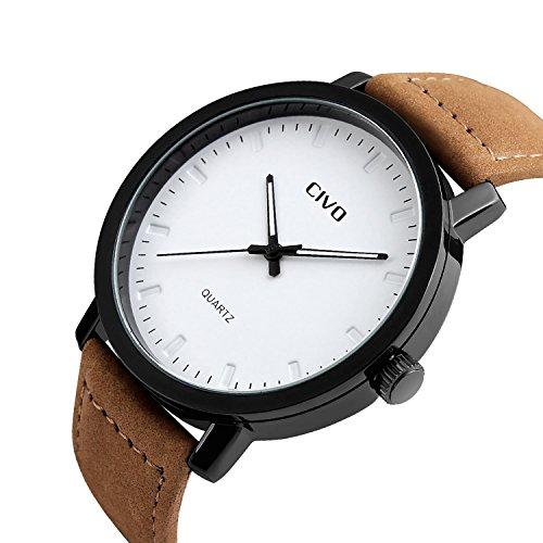 Schwarzer Beutel Echtes Leder Luxus 22 Armbanduhren Collector 22 Uhren Dauerhafter Service Armbanduhren