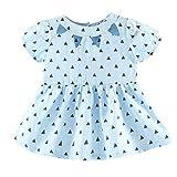 Baby Kleid, Chshe Kleinkind Mädchen Dreieck Gedruckt Kurzarm Hohl Röcke Für 6-24 Monate (Hellblau, 12 Monate)