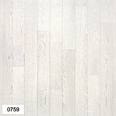 0759-Falco Light Grey Wood effect Anti Slip Vinyl Flooring Home Office Kitchen Bedroom Bathroom High Quality Lino Modern Design 2M 3M 4M wide and upto 10M length (Passion) - inexpensive UK light shop.