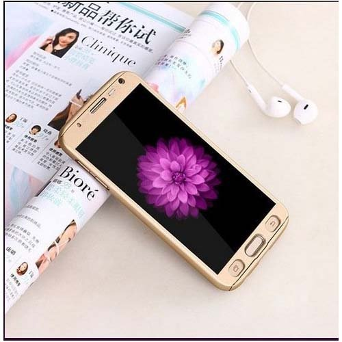Yes2Good Slim Fit 360 Degree Full Body Protection Hybrid Case Cover for Samsung Galaxy Grand Prime (G-530) ( includes front & back cover & screen tempered glass ) - GOLD  available at amazon for Rs.299