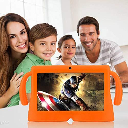 Aobiny Universal Silikon Gel Schutzhülle Back Case Cover für 7 Zoll Android Tablet Q88, Orange (Orange Tablet 7 Cases)