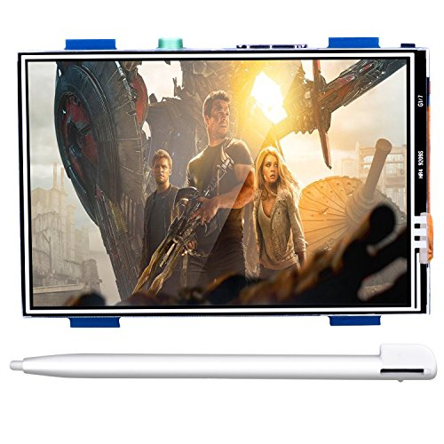 For Raspberry PI 3 Generation TFT Touch Screen Kuman 3.5 Inch 480*320 TFT LCD Display Monitor Supports all Raspberry PI Systems Video and Movie Play Arcade Game HDMI Audio Input SC6A