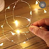 #9: Beauty Lights 3M 30LEDs USB Silver String Copper LED lights Warm White Thin Sparkle lights Decorative Fairy LED Lights
