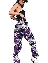 e02549b34f35e ADESHOP Femmes Sports Camo Cargo Pantalon Outdoor Camouflage Impression  Casual Jeans Pantalons Slim Chic Casual VêTements