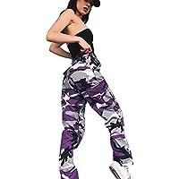 Pantalone,LILICAT® Pantalones largos flojos 2018 Fashion Camo Cargo Pantalones casuales de camuflaje al aire libre (M, Púrpura)