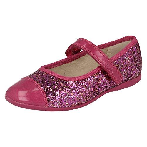 Clarks Danse Solo Girls infantile pompes en synthétique rose et or pink
