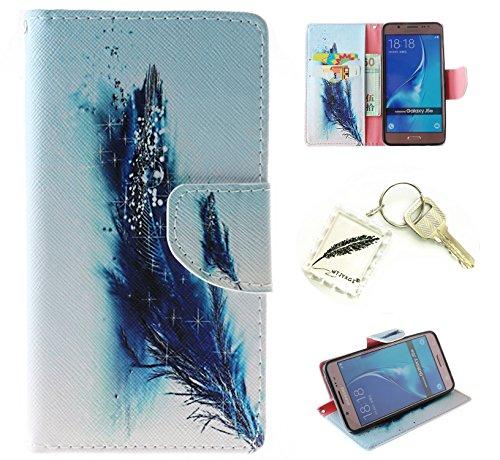 Silikonsoftshell PU Hülle für Samsung Galaxy J5 (2016)/J510 (5,2 Zoll) Tasche Schutz Hülle Case Cover Etui Strass Schutz schutzhülle Bumper Schale Silicone case(+Exquisite key chain X1) #AZ (3)