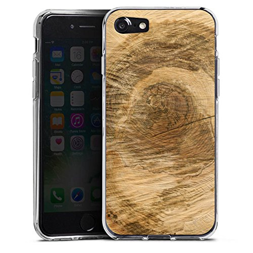 Apple iPhone X Silikon Hülle Case Schutzhülle Baumstamm Holz Look Baum Silikon Case transparent