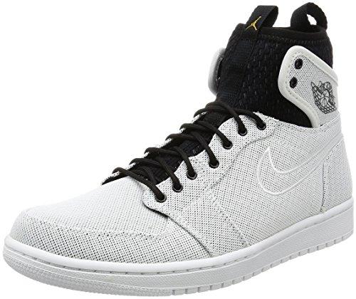 Jordan Jordan 1 Retro Ultra High Hommes Cuir Baskets White-Mtcl Gld Cn-Pr Pltnm