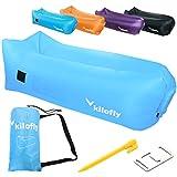 kilofly aufblasbare Liege Wasserdicht Tragbarer Couch Beach Camp Bag Air Sofa Bett Einheitsgröße blau
