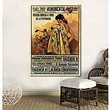 UDIYXC Stierkampf Vintage Spanien Poster Leinwanddruck