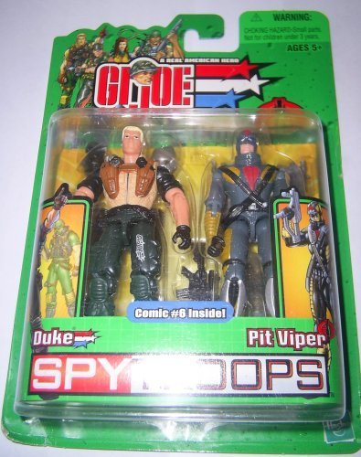 Gi joe spy troops DUKE (NIGHT FORCE) vs PIT VIPER g.i 2003 by Hasbro