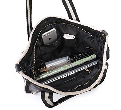 PDFGO Kampf-Farben-Leder-Handtaschen-Art- Und Weisegezeiten Portable Im Paket-Straßen-wilde Paket-große Kapazitäts-Schulter-Beutel-Tote-Beutel-Handtasche A