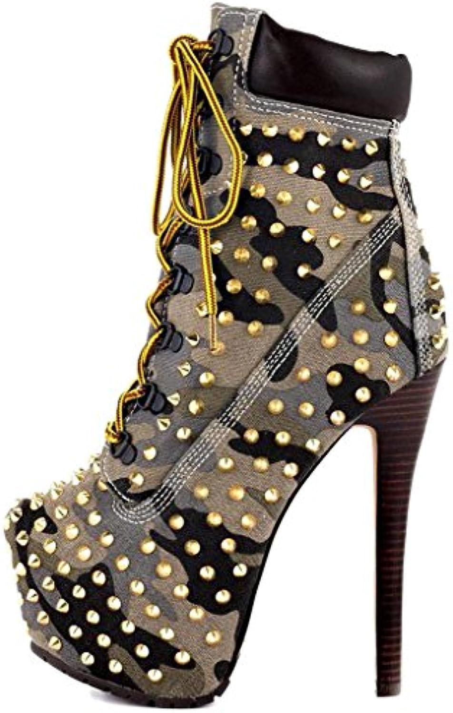 Calaier Donna Capark 16CM Tacco A Spillo Laccetti Stivali Calzature | In Linea  | Scolaro/Ragazze Scarpa