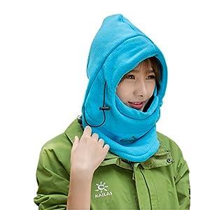 Tofern Mädchen multifunktionale thermisches warmes Fleece Balaclava Kapuze, Vollgesichtsmaske Hats Nackenwärmer Außenwintersport Snowboard Proof