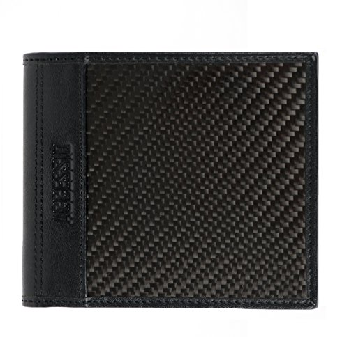 Premium Rfid Blocker-Schutz Herren Portmonee aus Carbon Fiber und echtem Leder. Stylische Schwarze Geldbörse von bester Qualität.