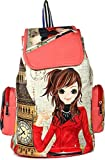 #1: FighterBulls Girls Fancy Stylish College / Casual Handbag Backpack, Bag (Pink)