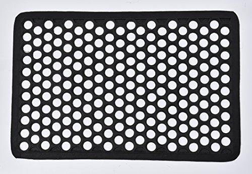 Evideco extérieur Porte avant Tapis de Harold Railing en caoutchouc Tapis Noir 61 x 40,6 cm