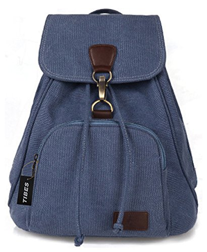 Tibes Zaino tela Backpack women Borsello donna Zaino scuola Borsa a tracolla Borse ragazza Borse casual Acqua Blu