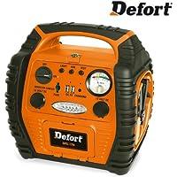 Defort DPS-17N Mobile Starthilfe/Energiestation mit 2 USB-Anschlüssen und Luftkompressor - 5 Jahre Garantie