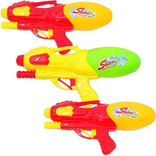 marion10020 3er-Set Wasserpistole Wasser-Pistole mit Pumpe Spritzpistole Water Gun Big Gun