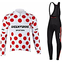 Uglyfrog #02 2018 Nuevo De Invierno Mantener caliente Manga Larga Maillot Ciclismo Hombre Bodies +Long Bib Pant with Gel Pad Winter Style