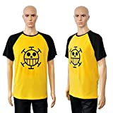 CoolChange One Piece Trafalgar Law T-Shirt mit Jolly Roger der Heart Piratenbande Größe: XL