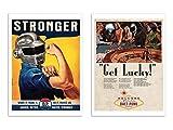 Wall Editions -  2 Art-Posters 30 x 40 cm - Daft Punk Vintage Ads - David Redon